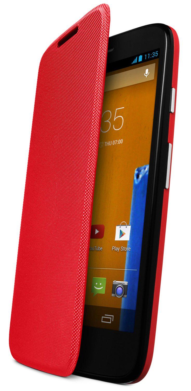 Flip cover rouge officiel Motorola Moto G (1ère gen)