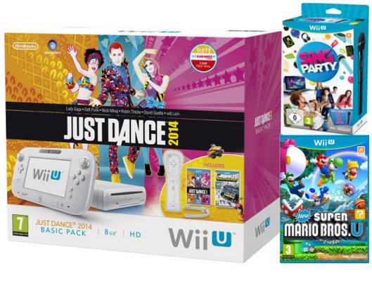 Pré-commande : Wii U Just Dance 2014  + New Super Mario Bros. U + SiNG Party Wii U