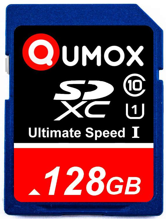 carte SDXC Qumox 128Go Go class 10 UHS-I Grade 1