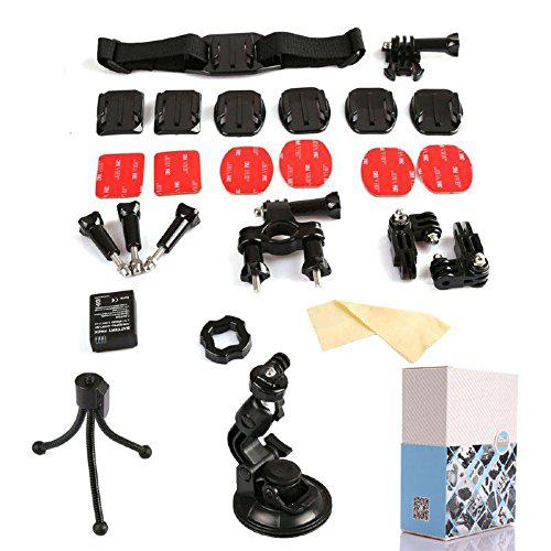 Kit de 15 accessoires pour caméra GoPro HD Hero (3 et 3+)