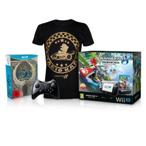 Pack Console Wii U Mario Kart 8 + Bayonetta 1 + 2 (First Print Edition) + Wii U Pro Controller + T-Shirt Mario Kart