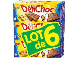 Lot 6 paquets de gâteaux Délichoc Delacre