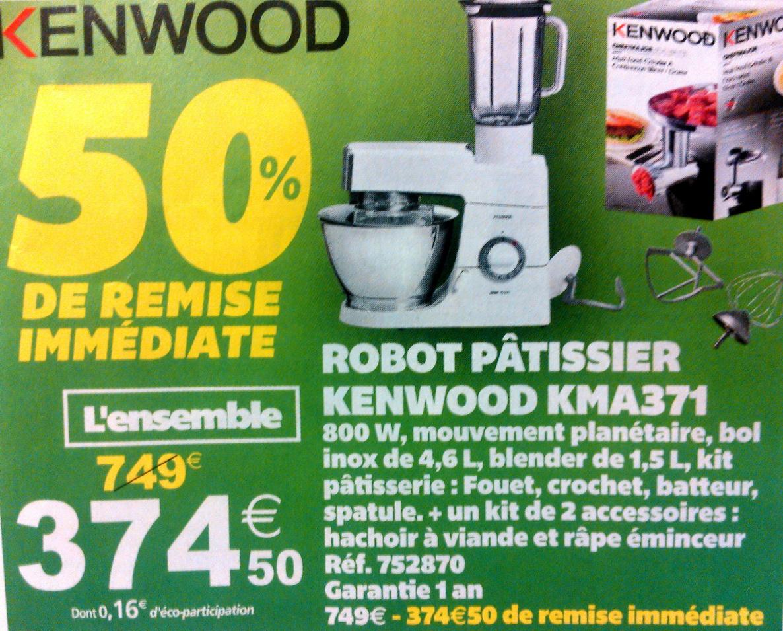 Sélection d'article en promotion - Ex : Robot pâtissier  kenwood KMA 371