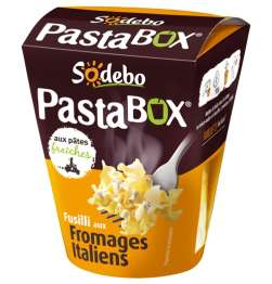 4 Pasta Box de Sodebo via Shopmium + BDR (+chéquier de 20€ de réduction via ODR)