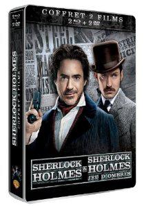 Coffret Collector SteelBook Blu-ray + DVD  - Sherlock Holmes + Sherlock Holmes 2 : Jeu d'ombres