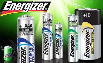 Sélection de piles et batteries en promo - Ex : Lot de 4 piles Energizer AAA