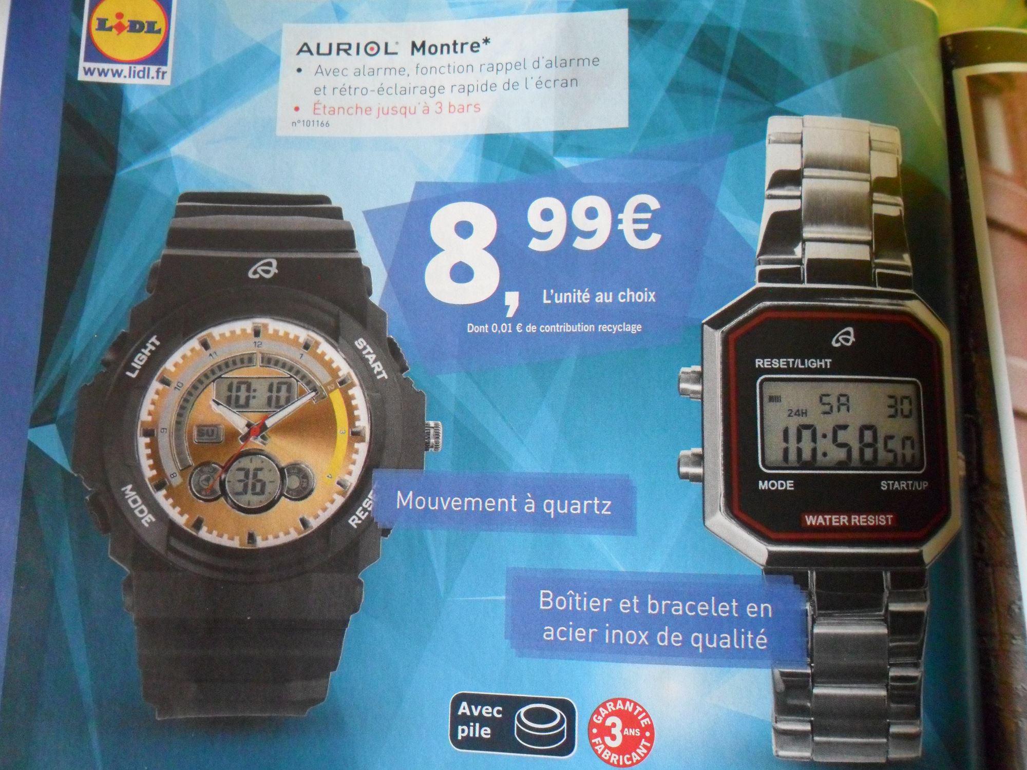 Montre Auriol  2 modèles garantie 3 ans au choix