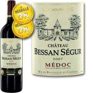 Vin rouge Château Bessan Ségur Médoc Cru Bourgeois 2007