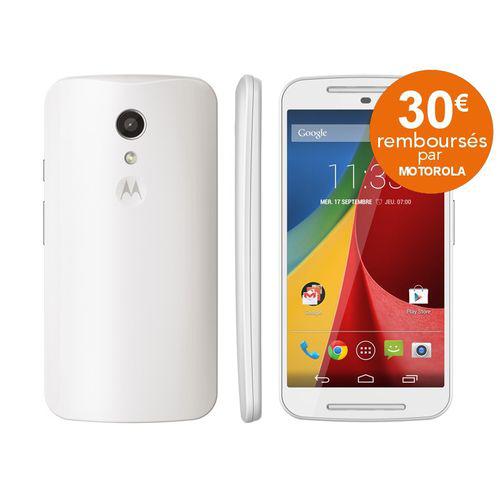 """Smartphone 5"""" Motorola Moto G 2ème génération Blanc (Avec ODR de 30 euros)"""