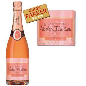 Champagne Rosé Nicolas Feuillatte 93/100 au guide Parker (+20€ en bons d'achat)