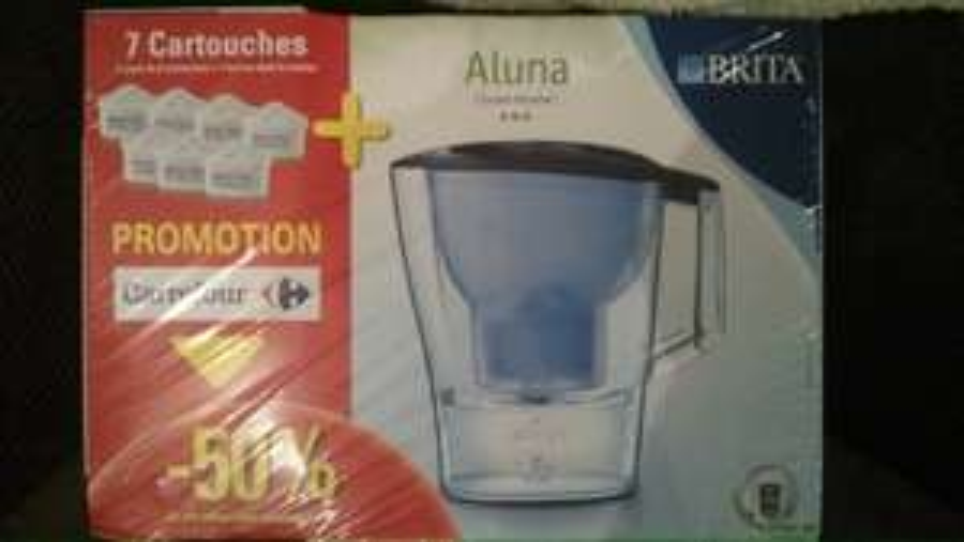 Carafe filtrante Brita Aluna + 7 cartouches