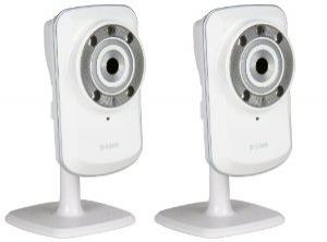 Pack de 2 Caméras IP jour/nuit WiFi D-Link DCS-932L