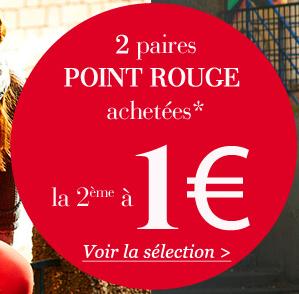 Lot de 2 paires point rouges achetées la 2ème à 1€