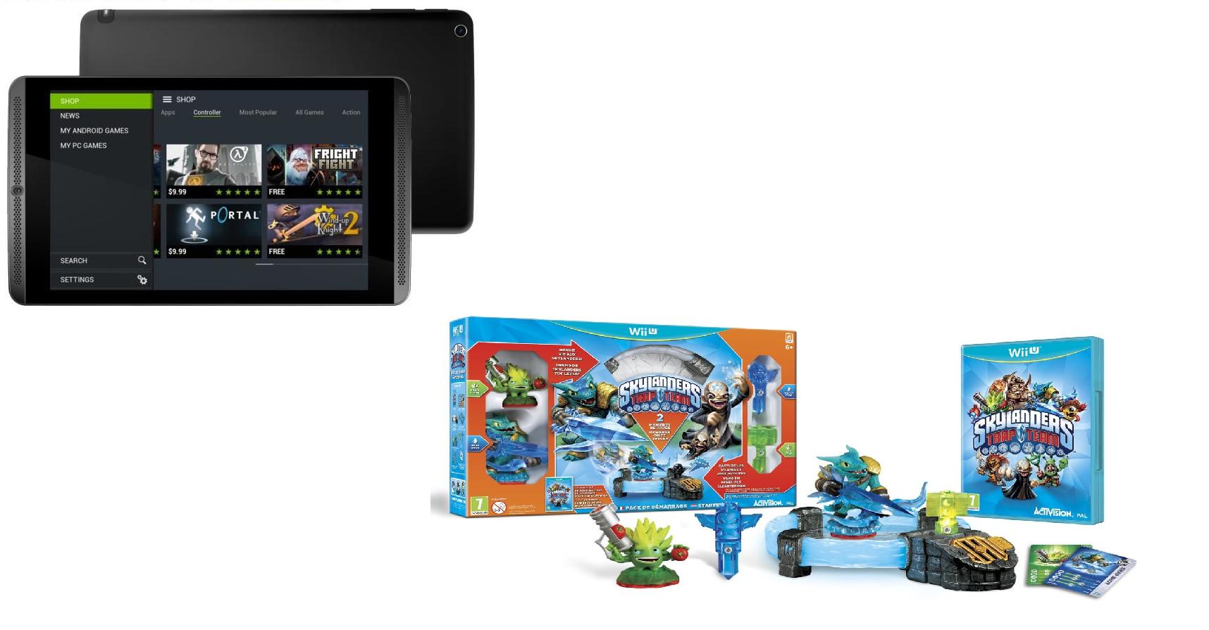 "Tablette 8"" Nvidia Shield  Wi-Fi 16 Go + Pack de démarrage Skylanders Trap Team"