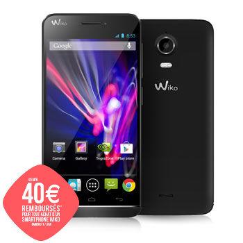 "Smartphone 4,7"" Wiko Wax + Etui folio + Carte SD 16 Go (avec ODR de 40€)"