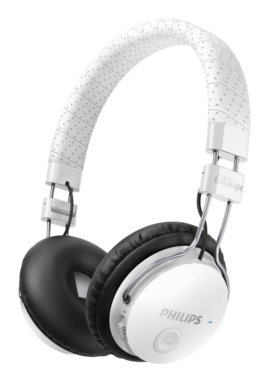 Casque pliable Bluetooth Philips Citiscape SHB8000WT/00 Foldie avec prise d'appel pour téléphone portable - Blanc