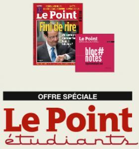 Recevez Le Point et Le Point Etudiants gratuitement pendant 1 an