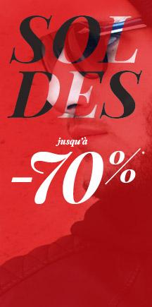 Jusqu'à 70% de réduction sur une sélection d'articles + 10% supplémentaire ou livraison gratuite à partir de 10€ d'achat - Ex : Jean straight coton Struggle's