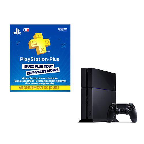 Console Playstation 4 + Playstation Plus LiveCards (abonnement 90 jours)