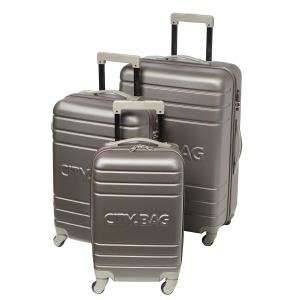 Lot de 3 valises trolley City Bag Chicago