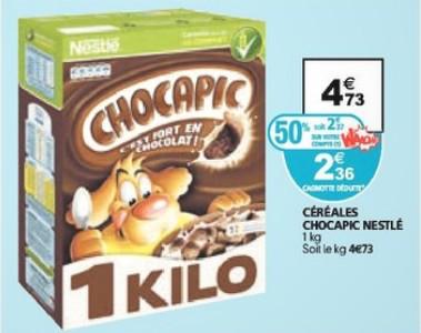 Paquet de Chocapic 1 KG (50% remise sur carte + coupon)