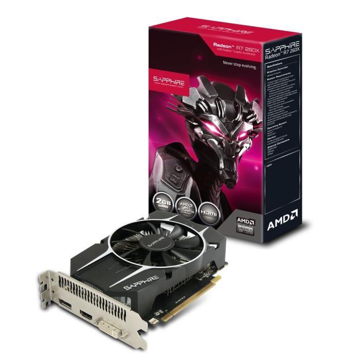 Carte graphique Sapphire AMD Radeon R7 260X 2 Go