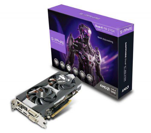 Carte graphique Sapphire Radeon R9 270X Dual X OC - 2 Go