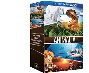 Coffret 4 Blu Ray 3D Animalia (Ours polaires 3D + Dinosaures 3D, les géants de Patagonie...)