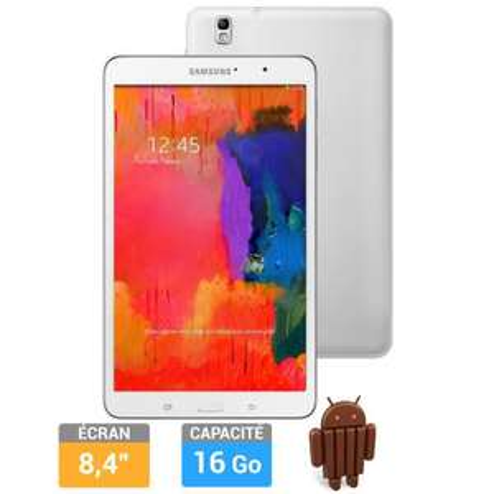 """Tablette Samsung Galaxy Tab Pro 8.4"""" 16 Go Blanche"""