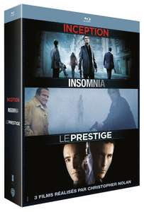 Coffret Blu-Ray Christopher Nolan : Insomnia + Le Prestige + Inception