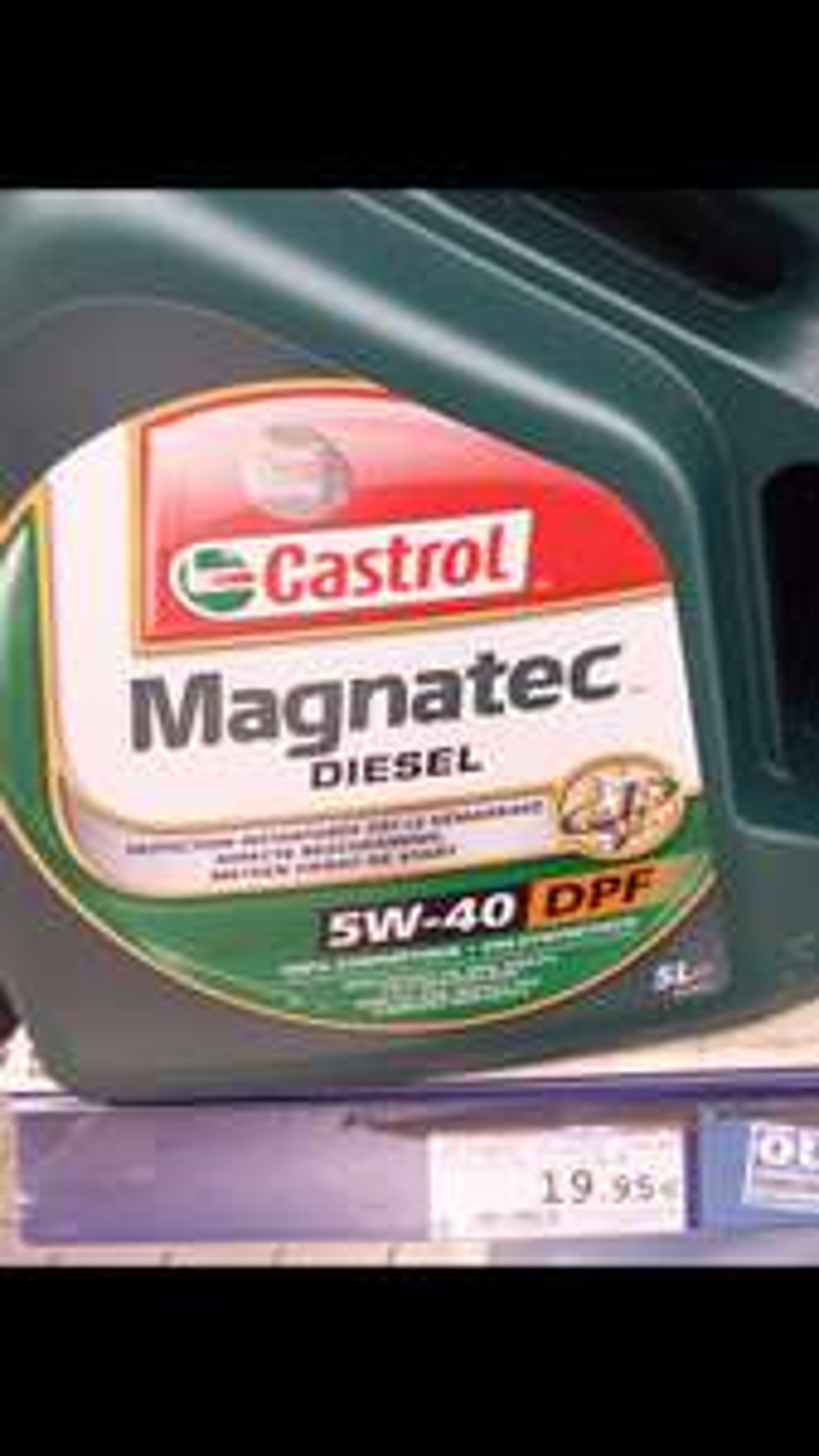Huile Castrol Magnatec 5w40 DPF