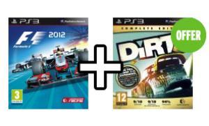 F1 2012 + Dirt 3 Edition Complète - PS3 et XBOX 360