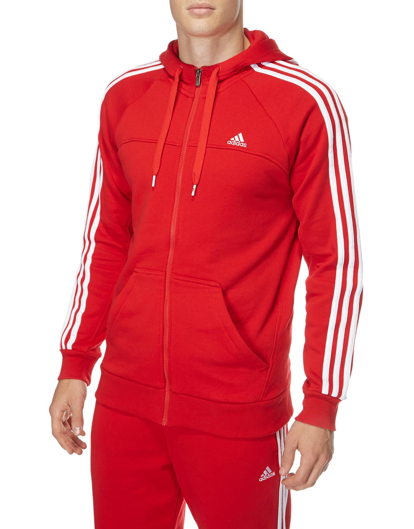 Promotion sur une sélection d'articles - Ex : Sweat à capuche rouge Adidas