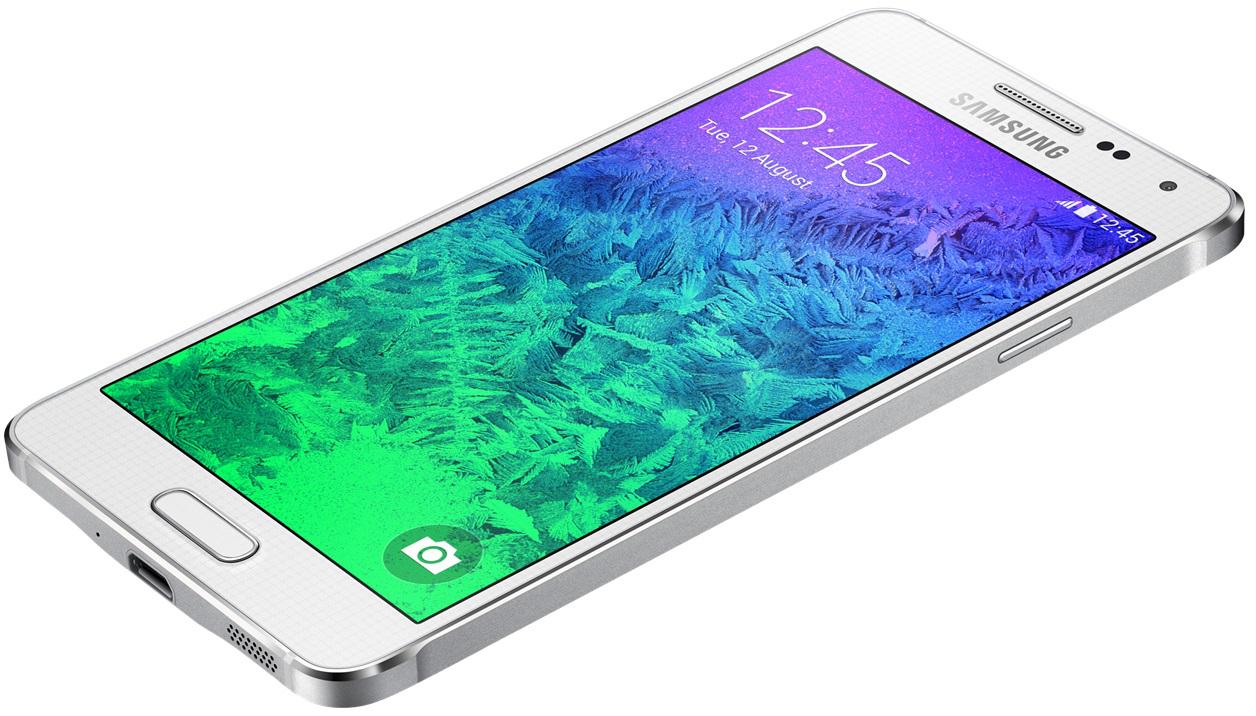 Smartphone Samsung Galaxy Alpha 32 Go - Chrome (avec ODR 70€) + 40€ en chèques cadeaux