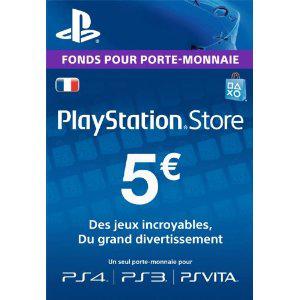 Carte PlayStation Store d'une valeur de 5€