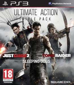Ultimate Action Triple Pack sur PS3 (Just Cause 2 + Sleeping Dogs + Tomb Raider)