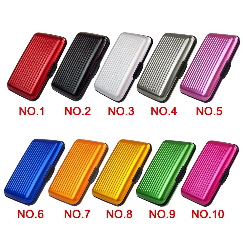 Porte carte en aluminium (anti RFID/NFC), plusieurs couleurs