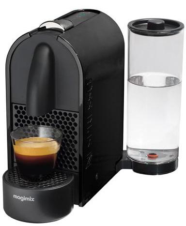 (Offre adhérents) Machine à café Magimix Nespresso U M130 - Noir + 20€ offerts en chèque cadeau (avec ODR 60€)