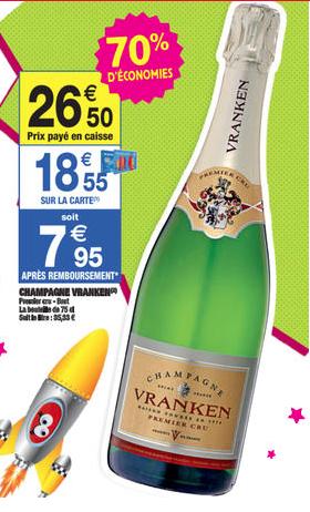 Champagne Vranken Premier Cru Brut 75 cl (Avec 18.55€ sur la carte)