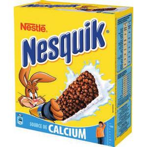 La boîte de 6 barres de céréales Nesquik (1,33€ sur la carte + bon de réduction)