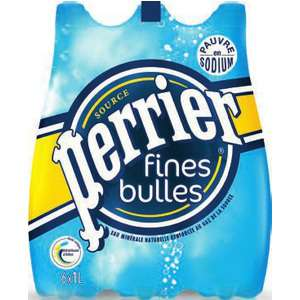 pack de Perrier Fines Bulles 6x1L (1,95€ sur carte + réduction)