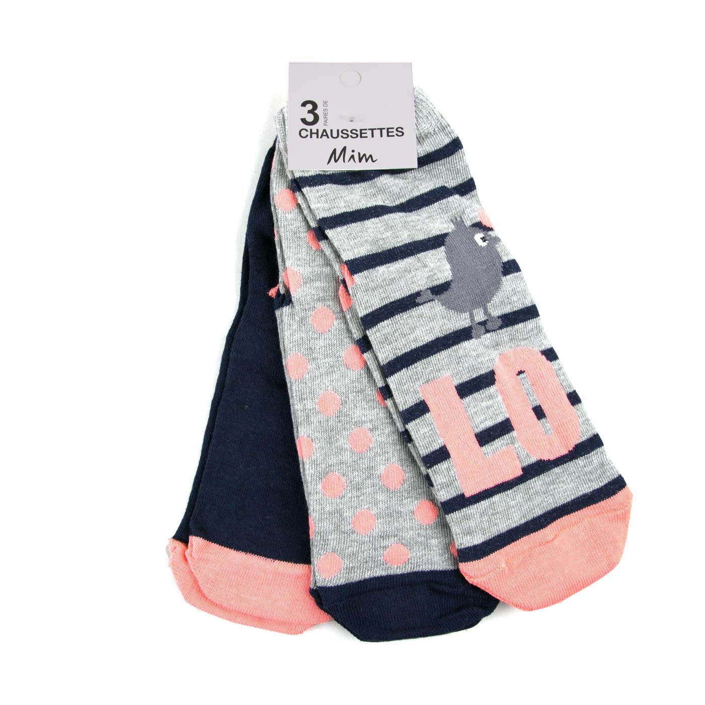 Jusqu' à 50 % de remise sur une sélection d' articles - Ex : Lot 3 paires de chaussettes