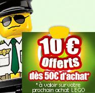 Bon de 10€ valable dès 50€ sur les Lego offert pour toute commande parmi une sélection Lego