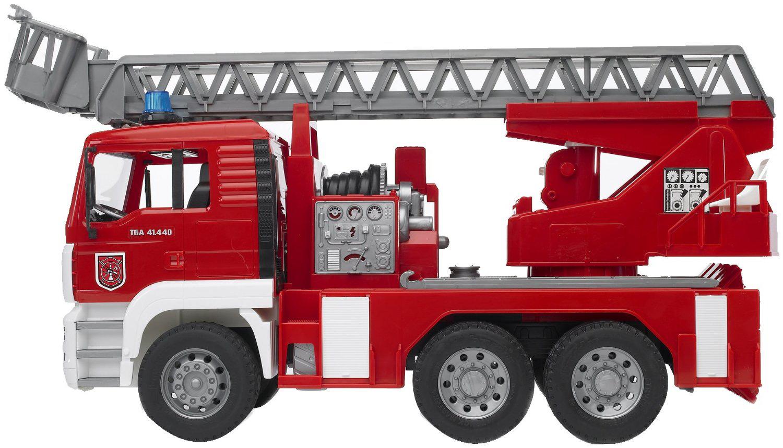 Jouet Bruder - Camion de Pompier MAN avec Girophare, Lance, Lumière