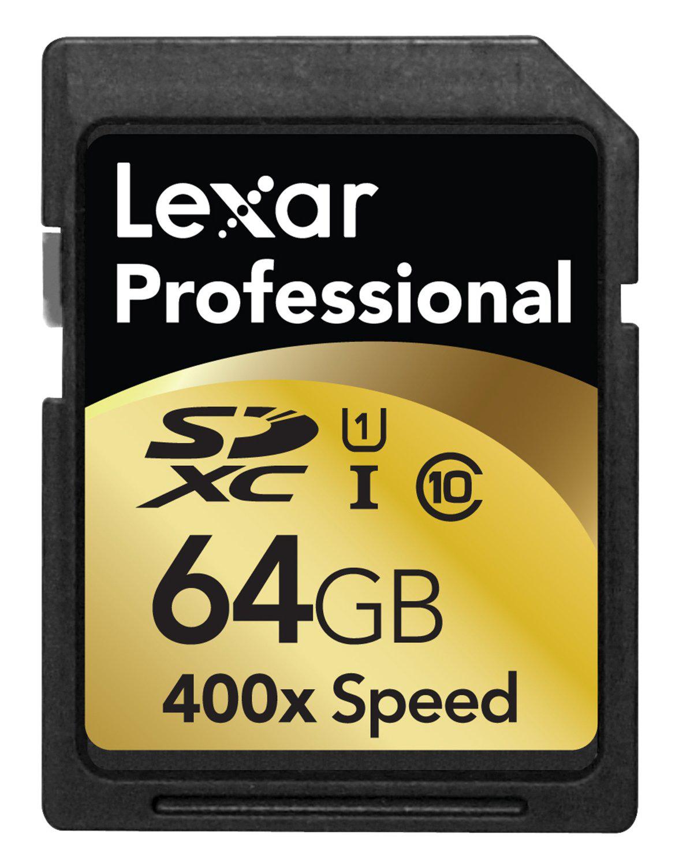 Carte Mémoire SDXC Lexar  64 Go  Vitesse 400X