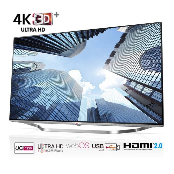 """Téléviseur 55"""" LG 55UB950 - Smart TV Ultra HD 4K - lunettes 3D incluses (avec ODR de 300€)"""