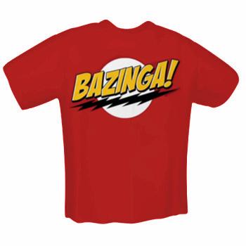 T-Shirt The Big Bang Theory - Homme Bazinga (Taille S, M, L, XL, XXL)