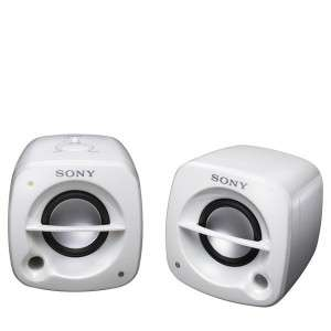 Enceintes SONY SRS M50 2.0 - disponible en blanc ou rose,