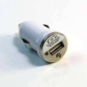 Chargeur auto allume cigare USB iPhone 3G/4 Blanc