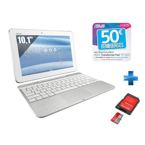 Tablette tactile 10,1'' Asus Tranformer Pad TF103 10.1 avec clavier + carte microsd 16Go sandisk (avec ODR 50€)